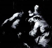 satyr and peasant by jan (pan) von lis