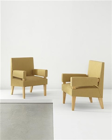 armchairs pair by maxime old