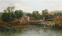 the weir at streatley by allan