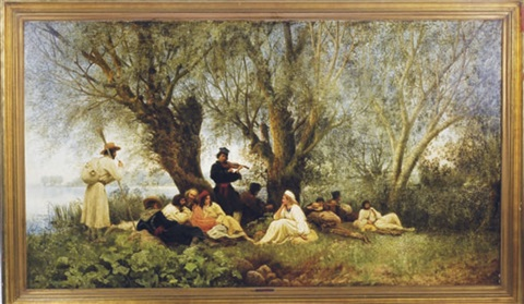 a captive audience by wilhelm august stryowski