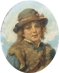 a shepherd boy by josé serra y porson
