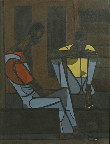 men resting by robert gwathmey
