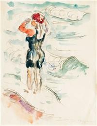 bathing woman by ivo hauptmann