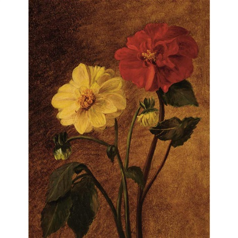 dahlias by william sidney mount