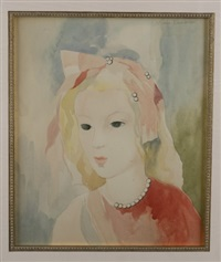 portrait of a young lady by marie laurencin