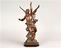 figure of winged victory by emile louis picault