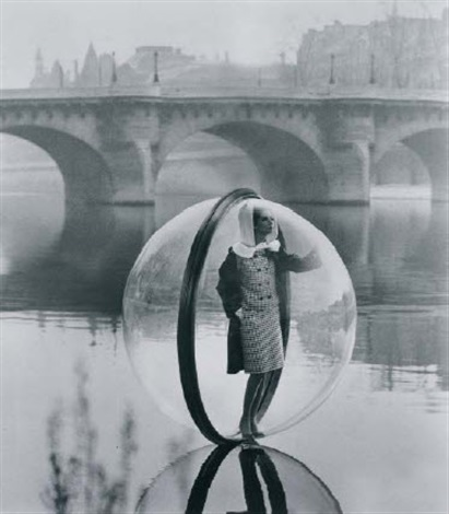 bubble on the seine, paris by melvin sokolsky