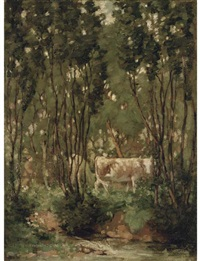 cows in a woodland glade by james hamilton mackenzie