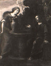 cristo e la samaritana al pozzo by nicola vaccaro