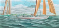 les yachts columbia et shamrock by philippe conrad