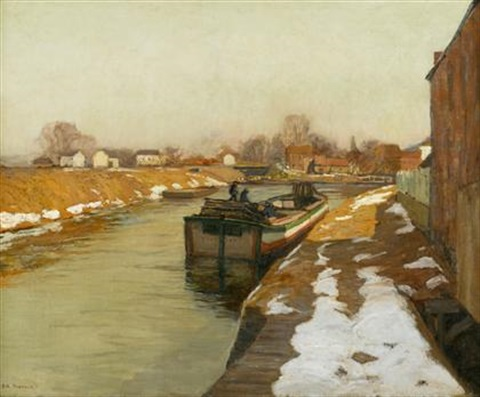 canal at lambertville by edward willis redfield