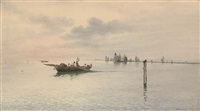 drawing in the nets on the venetian lagoon by eugenio benvenuti