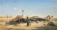 campement à ramlat en egypte by etienne billet