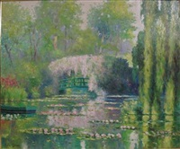 lily pond at giverny by claude cambour