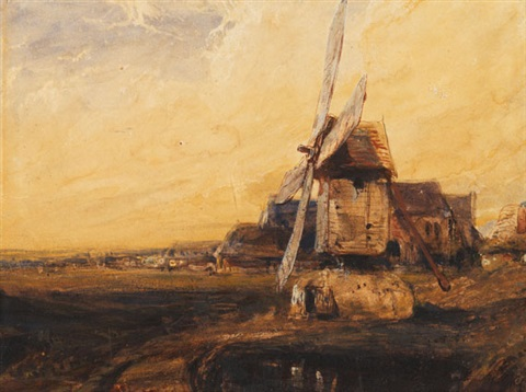 alte windmühle by louis gabriel eugène isabey