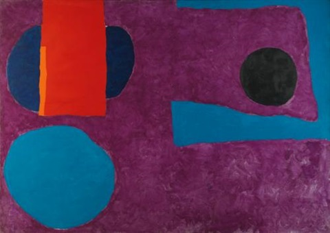 big violet with red and blue march by patrick heron