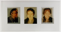 anne, charlotte, emely (3 works in 1 frame) by marie andersson