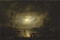fishing by moonlight by jan lodewijk jonxis