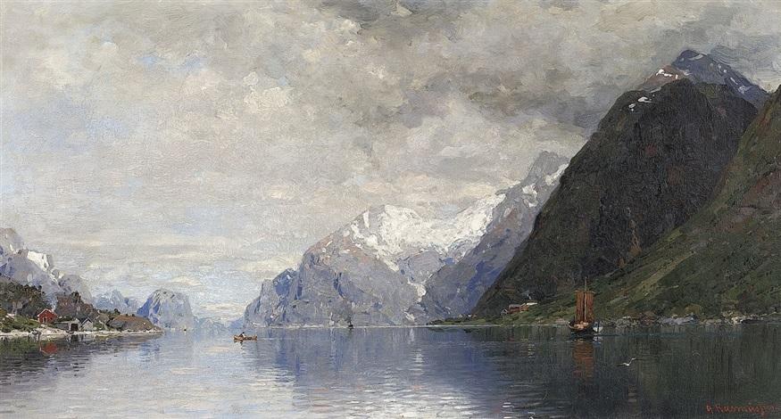 norwegische fjordlandschaft by georg anton rasmussen