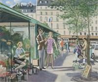 marché aux fleurs, place de la madeleine by robert lepeltier
