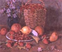 nature morte fraises et citrons by nikolai maksimovich melnikov
