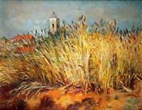 blé et village de provence by marcel dyf