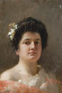 portrait of a young lady by natale attanasio
