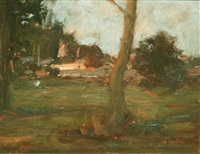 farm house from the woods by paul kelly
