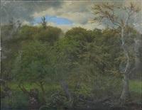 a spring forest by heinrich buntzen