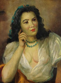 a female portrait by marcel krasicky