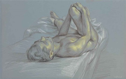 study of a reclining nude by paul cadmus