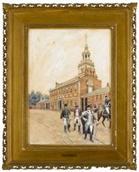 independence hall 1781 by william sullivant vanderbilt allen