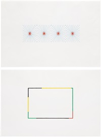 studies for wall drawings (2 works) by richard wright