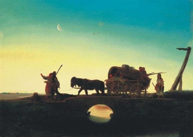 éjjel a pusztán the hungarian puszta at night by janos janko