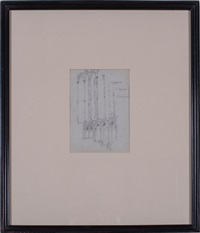 sketches of architectural elements (group of 5 works) by charles robert ashbee