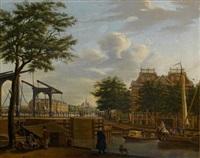 view of amsterdam with the scheepvaartmuseum by paulus constantijn la (la fargue) fargue