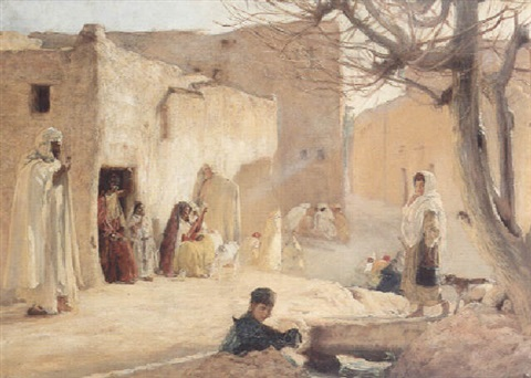 villageois au soleil by louis joseph anthonissen