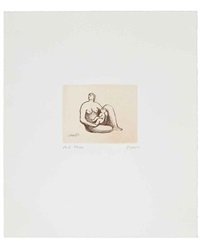 mother and child (set of 8) by henry moore