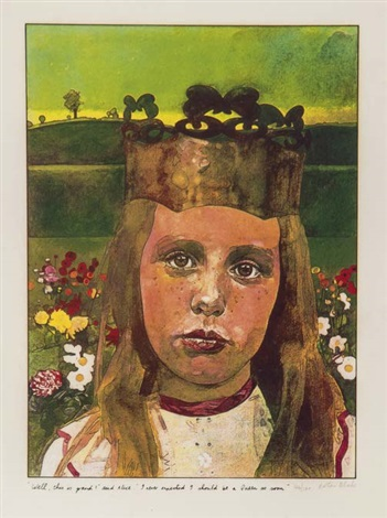 alice in wonderland complete set of 8 works by peter blake