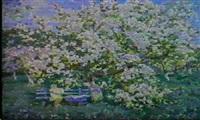 le pommier en fleurs by stanislav fomenok