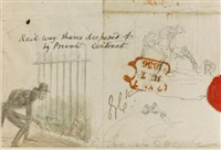collection of original sketches (c.40 works) by george cruikshank