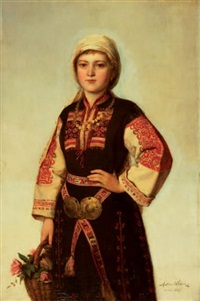 tombak kemerli kadın by anton weber