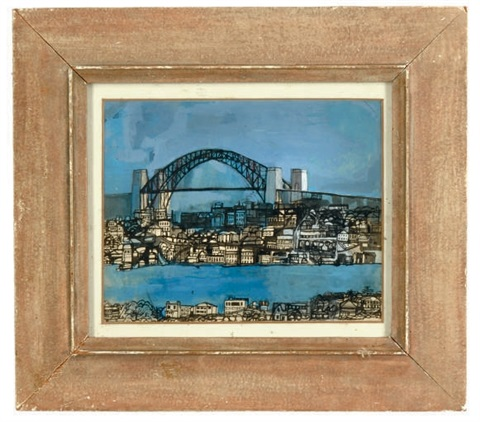 sydney harbour bridge by leonard rosoman
