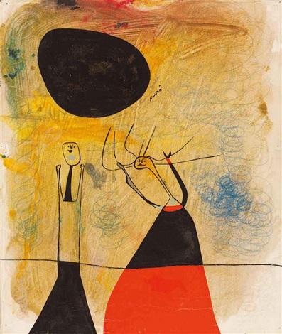 deux personnages by joan miró