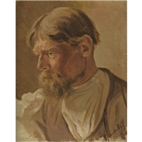 portrait of a peasant by abram efimovich arkhipov