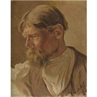 portrait of a peasant by abram efimovich arkhipov