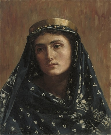 portrait of a lady in eastern dress by john collier