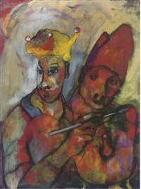 painting a portrait of the cardinal (+ edgar's orchard; 2 works) by pete nevin