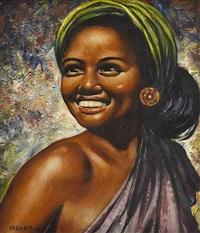 portrait of a woman by geoffrey graham