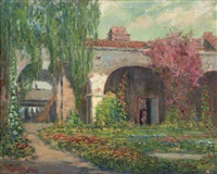 capistrano mission arches by arthur hill gilbert
